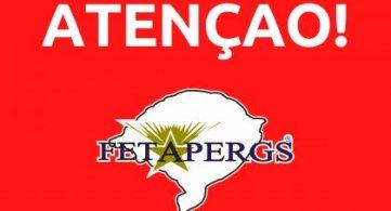Atendimento presencial suspenso na FETAPERGS