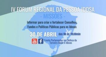 Frente Parlamentar e entidades organizam IV Fórum Regional da Pessoa Idosa